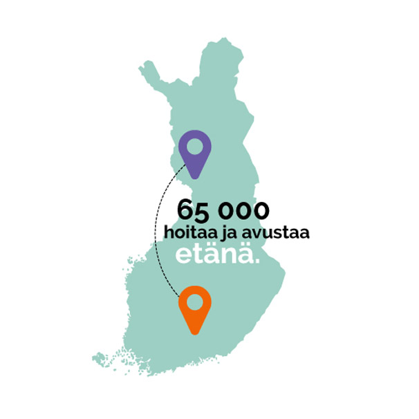 65 000 hoitaa ja avustaa etänä